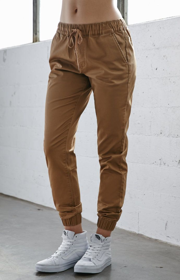 Chino Twill Drawcord Jogger Pants  68c0b3b55501