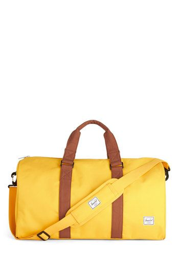 Get Curried Away Weekender Bag by Herschel Supply Co. - Yellow, Solid, Travel, Better