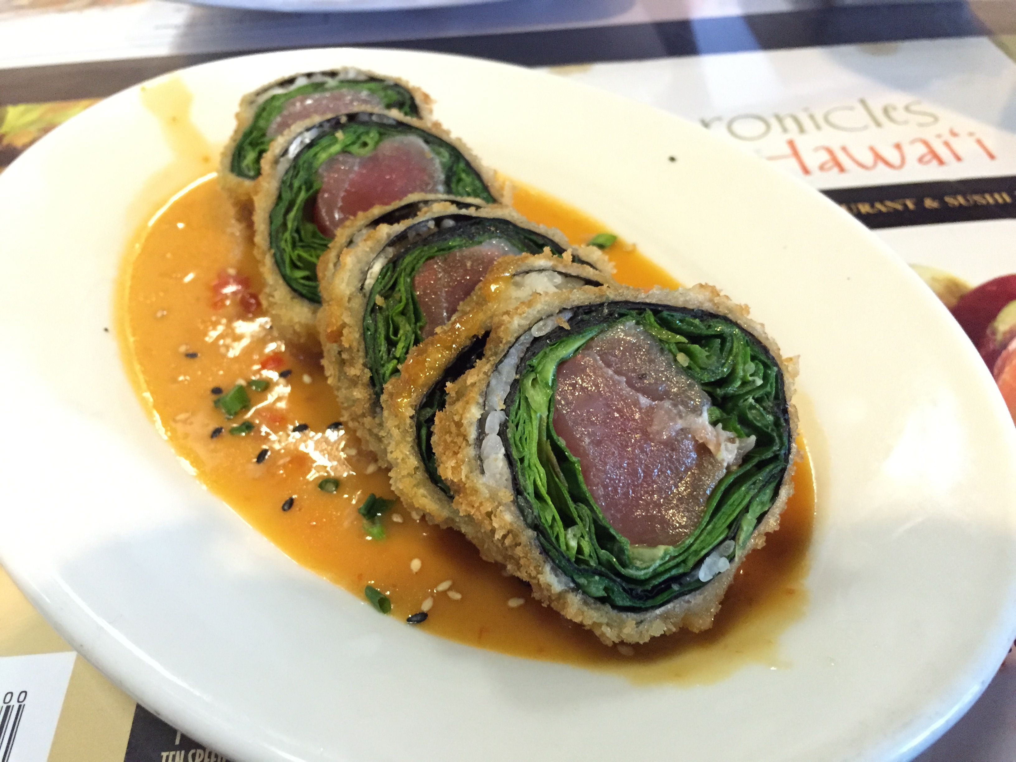 Queen S Marketplace Sansei Seafood Restaurant Sushi Bar Panko Crusted Fresh Ahi Sashimi