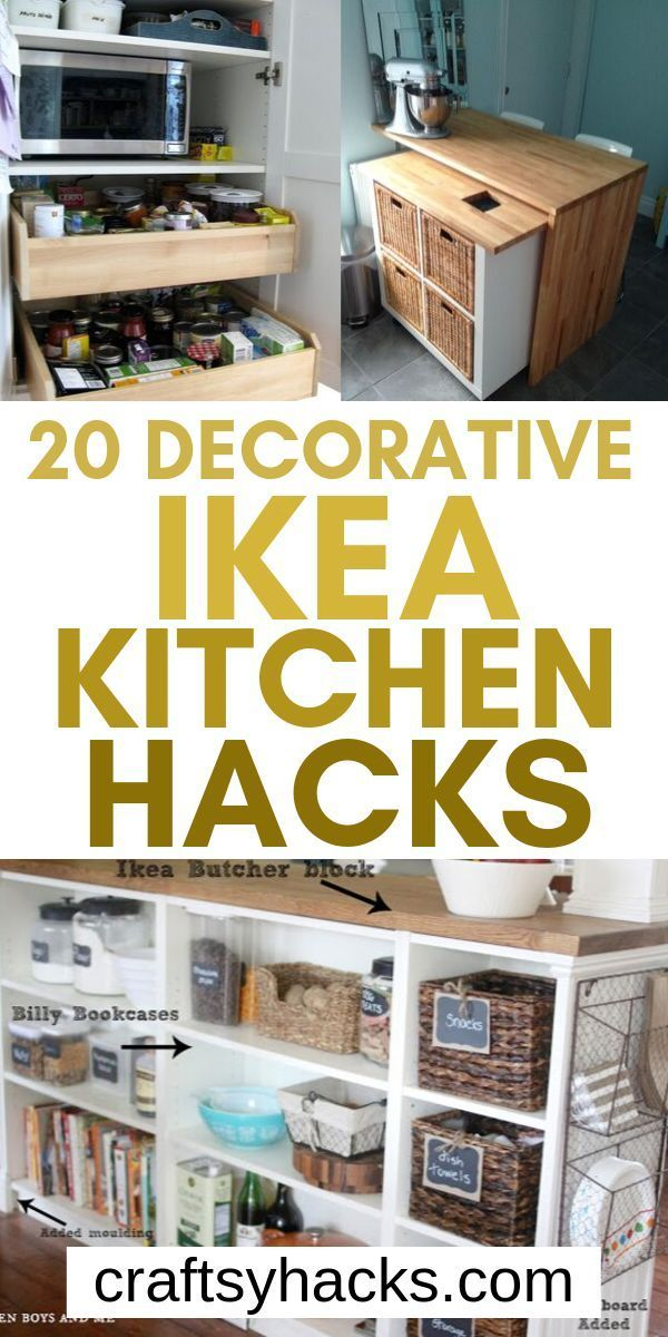 Ikea furniture can transform the way your kitchen looks. Try these ikea hacks and have fun designing kitchen. #kitchen #ikea #decor