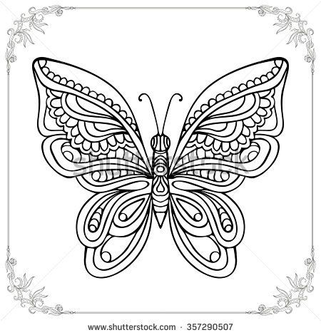 Butterfly Symmetry Grade 4 5 Coloring Books Outline Drawings