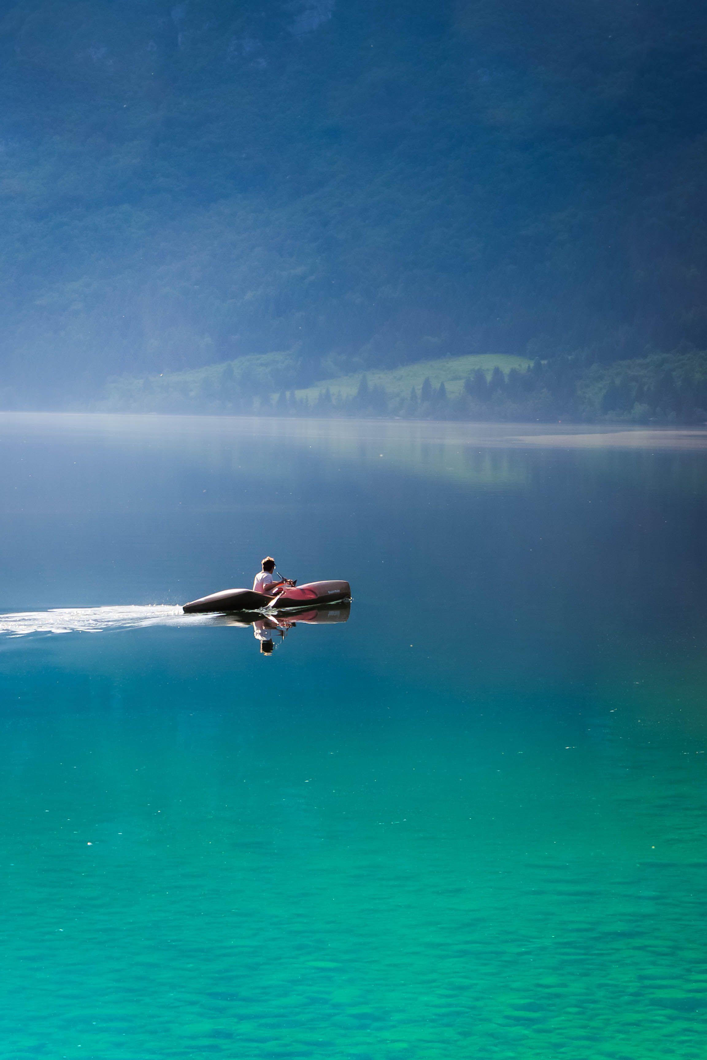 Kayaking on the lake - Lake Bohinj