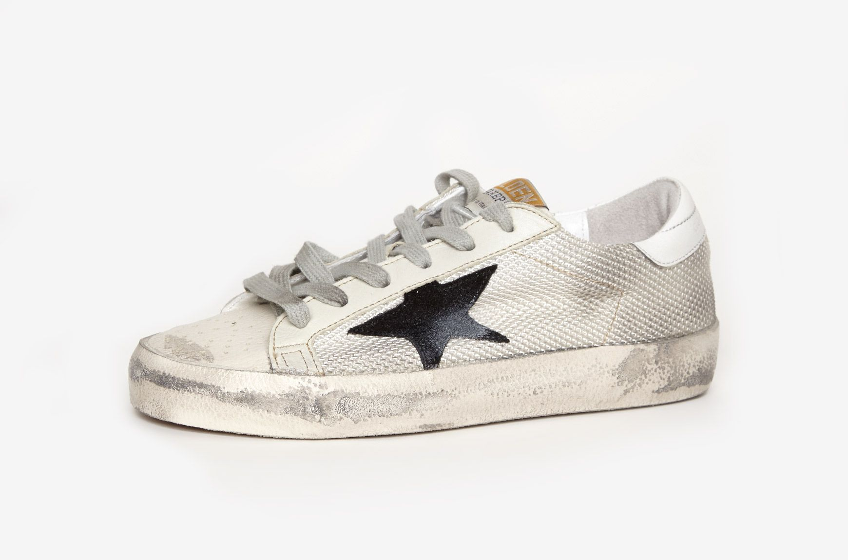 Oie D'or De Luxe Baskets Superstar Gris De Marque nA5jE6VH