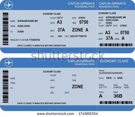 Airline Ticket Template Word Simple Boarding Pass  Google Search  Inspiration  Pinterest  Boarding Pass