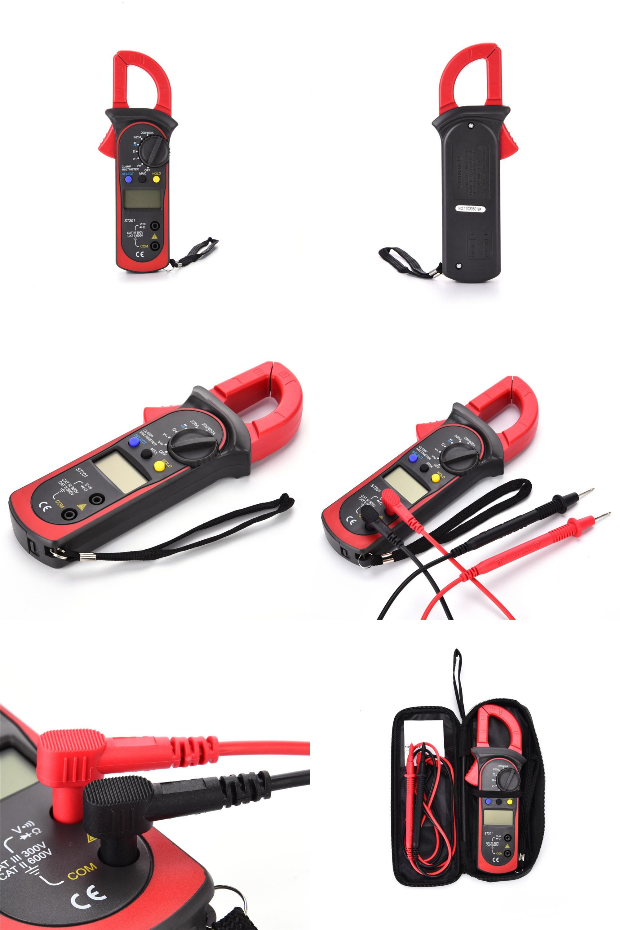 Visit To Buy High Quality St201 Digital Red Clamp Meters Multimeter With Measurement Ac Dc Voltage Tester Current Resistance Mu Multimeter Ac Dc Voltage Acdc