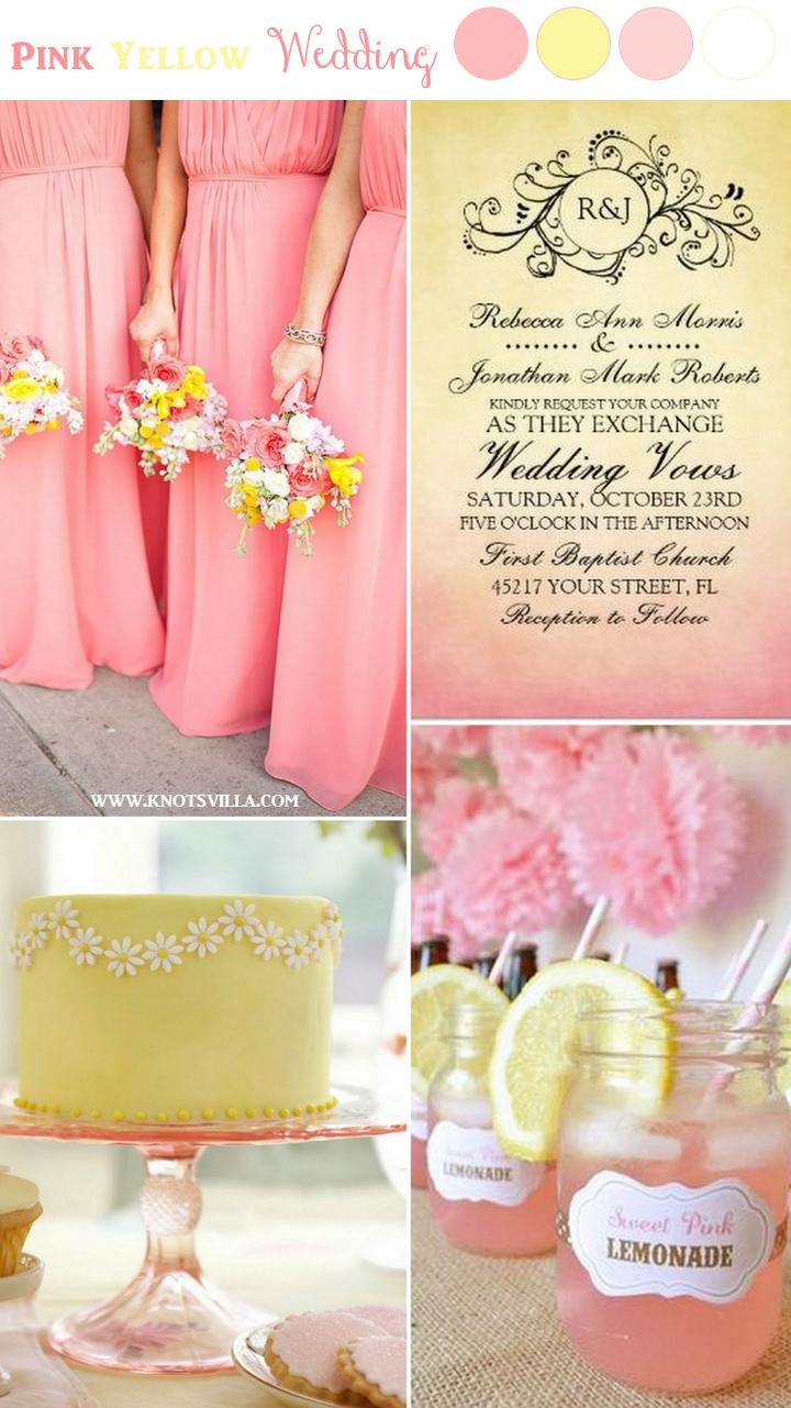 Wedding decorations reception ideas october 2018 Pink and Yellow Wedding Ideas  KnotsVilla  Perfect wedding ideas