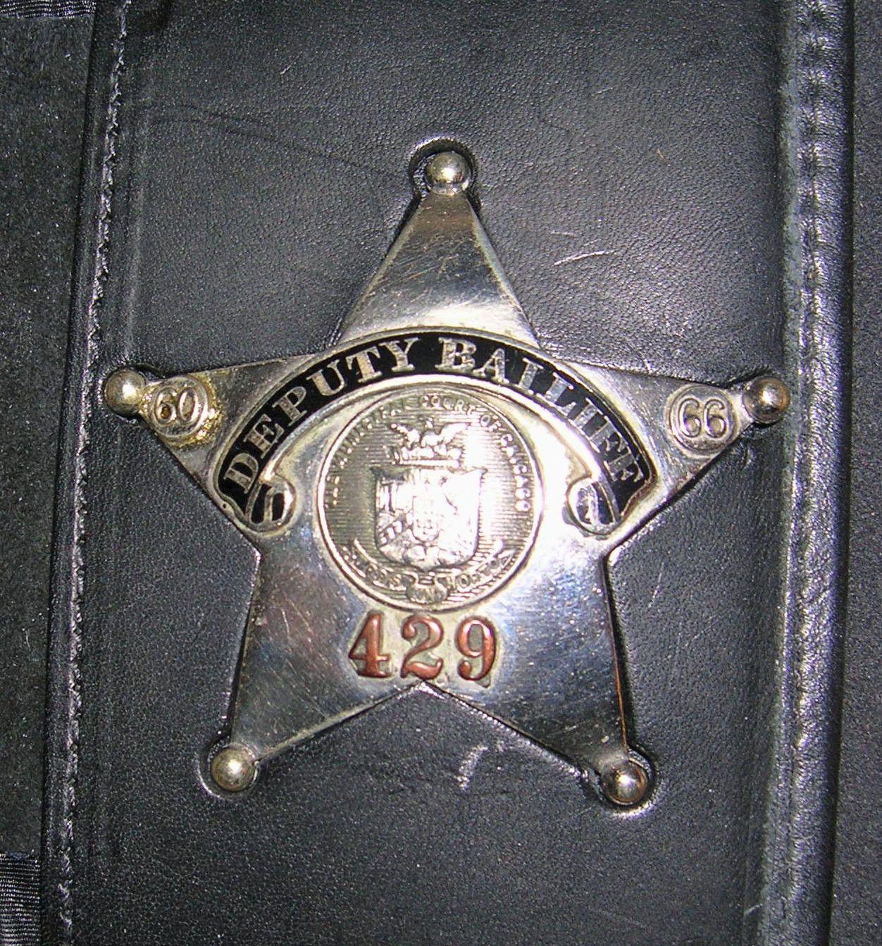 Deputy Bailiff, Court of Chicago (C H Hanson)   Police/Law