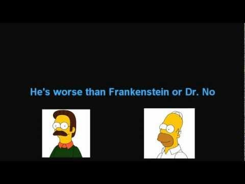 Simpsons Neighbor song about Ned Flanders - Intro in German