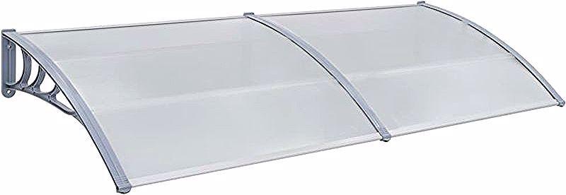 Door canopy Gray 240 x 100 cm Plastic – 45631FR