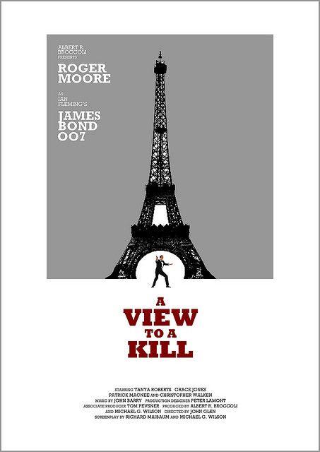 A View To A Kill Com Imagens Cartaz