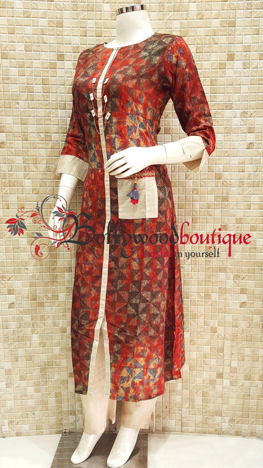 Designer kurti fabric cotton reyon color multi color style