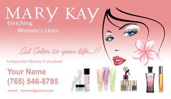 Tarjetas De Presentacion Mary Kay Mary Kay Herbalife Business Cards Custom Business Cards
