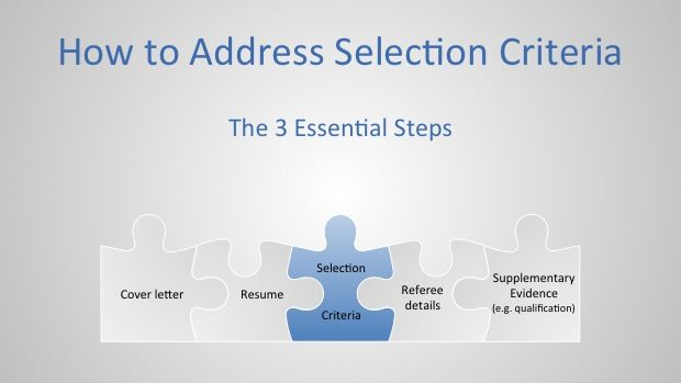 How to address selection criteria The 3 essential steps – Selection Criteria Cover Letter