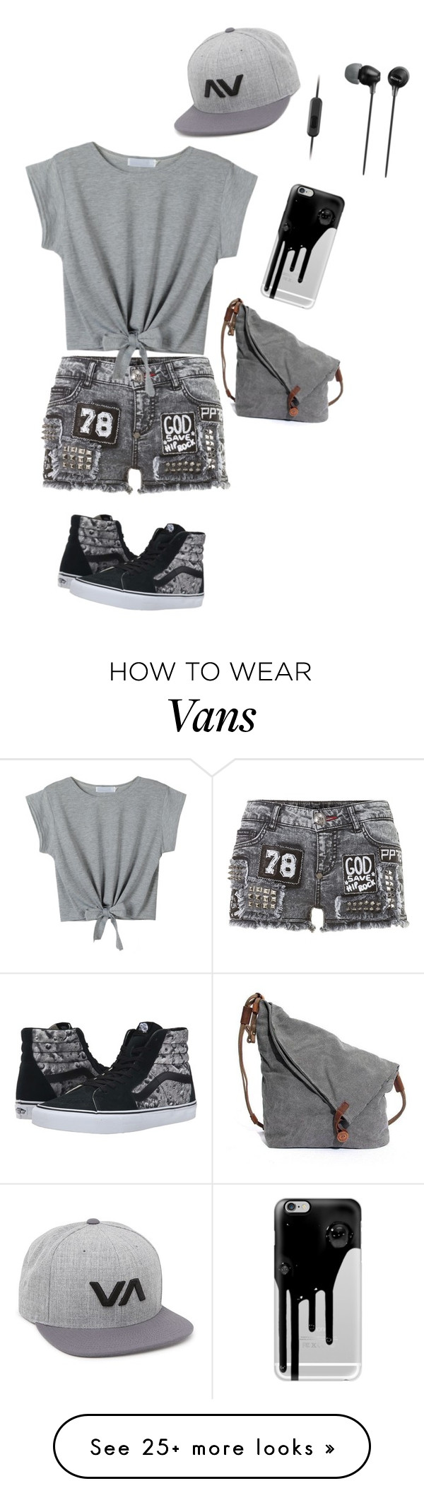 """""""Untitled #1335"""" by sylviabunny on Polyvore featuring Vans, RVCA, Casetify and Sony"""