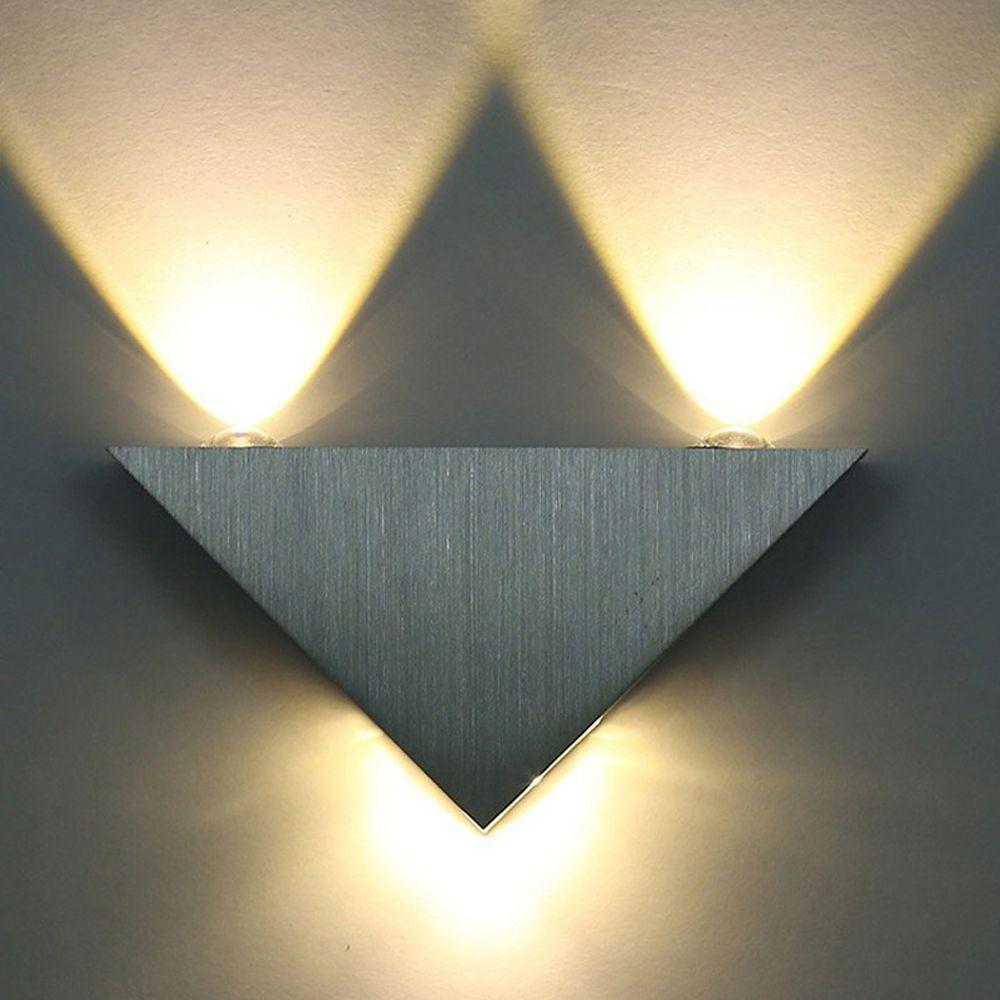 Schön Moderne Led Wandleuchte 3 Watt Aluminium Körper Dreieck Wandleuchte Für  Schlafzimmer Home Beleuchtung Leuchte Bad Leuchte