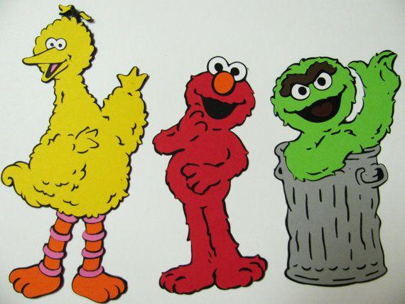 Big Bird die cut from Sesame Street