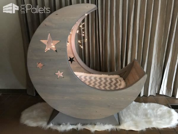Starry Night Pallet Half Moon Cradle Diy Pallet Bed