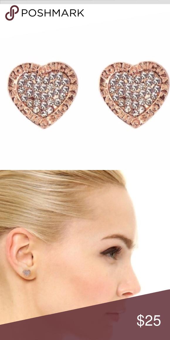 95ceb2fd73161 Rose Gold Heart Michael Kors Earrings ❤ Rose Gold Heart Shaped Michael Kors  Earrings ❤ Michael Kors Jewelry Earrings. ✨LAST PAIR✨ ...
