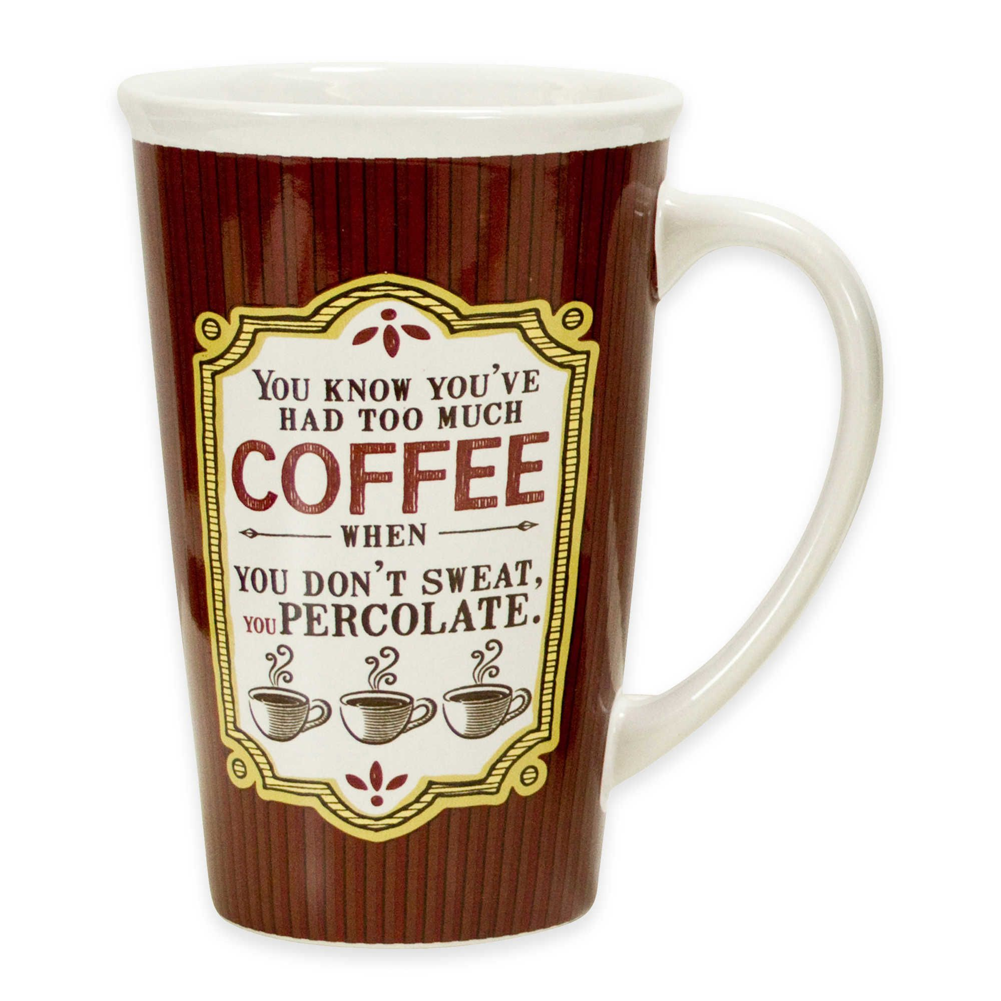 Get Your Caffeine Buzz Started With This 22 Oz Too Much Coffee Mega Mug A Sure Way To Drink Lots Of Your Favorite Brew This Mugs Too Much Coffee Coffee Love