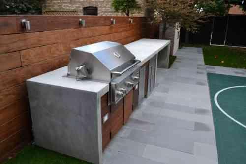 Barbecue Fixe Fonctionnel Et Esthetique Dans Le Jardin Moderne Construire Un Barbecue Jardin Moderne Cuisine Exterieure