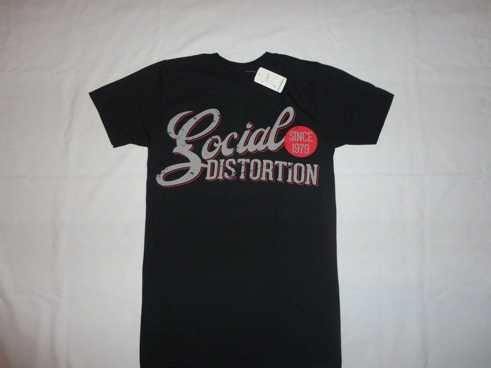 New SOCIAL DISTORTION Punk Rock Logo Men/'s White T-Shirt Size S to 3XL