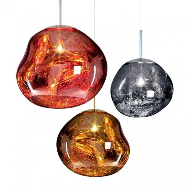 Pendentif De Lave Magique En Cuivre Moderne S Allume Tom Dixon Verre Fondu Transparent Suspension Classique Pendant Light Ball Pendant Lighting Creative Lamps