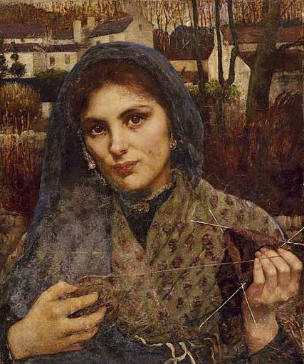 The Dreamer by Annie Louisa Robinson Swynnerton, 1886.....  #brown