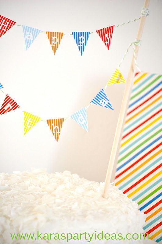 FREE Mini Cake Pennant Bunting for Thanksgiving Fall