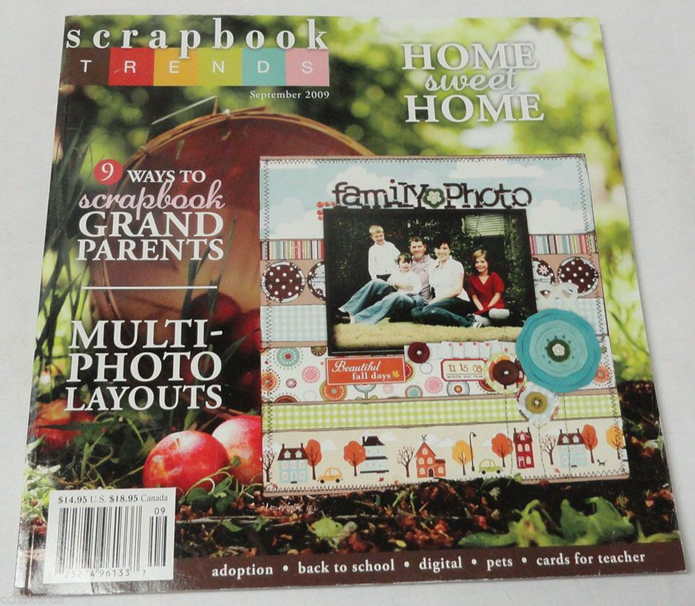 Details about SCRAPBOOK TRENDS September 2009 Grandparents Photo Layouts Home Sweet Home #grandparentphoto