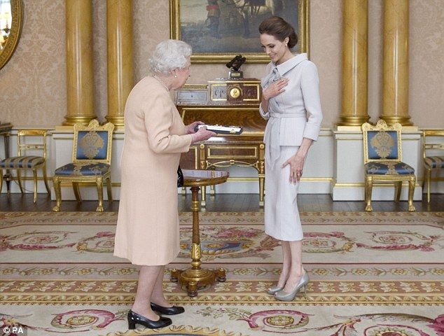 Honour: The Queen received the Oscar-winning actress in a private audience at Buckingham Palace today