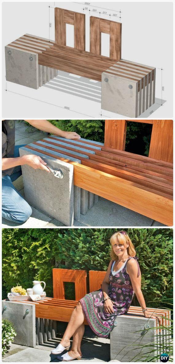 Diy Outdoor Garden Bench Ideas Free Plans Instructions Garten