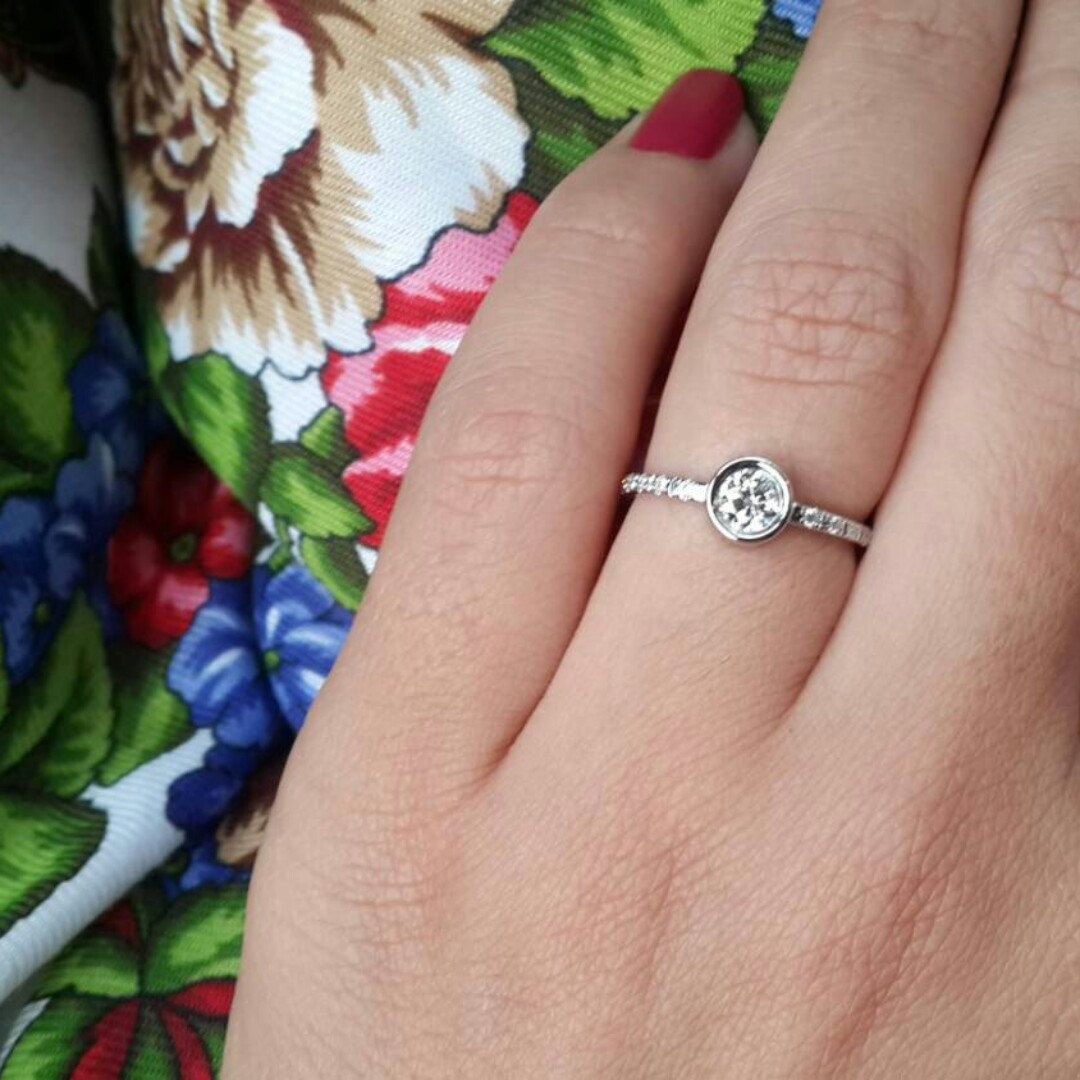 Simple, minimalist and elegant Paris Crown engagement ring before ...