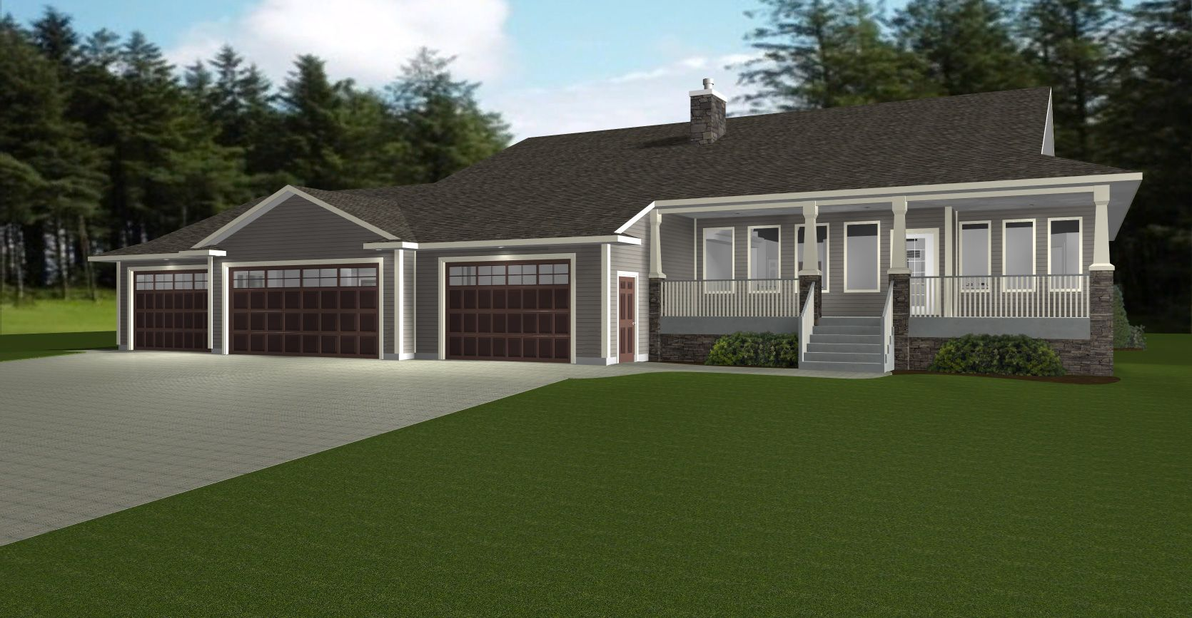 Nice House Plans With 3 Car Garage #4 Ranch Style