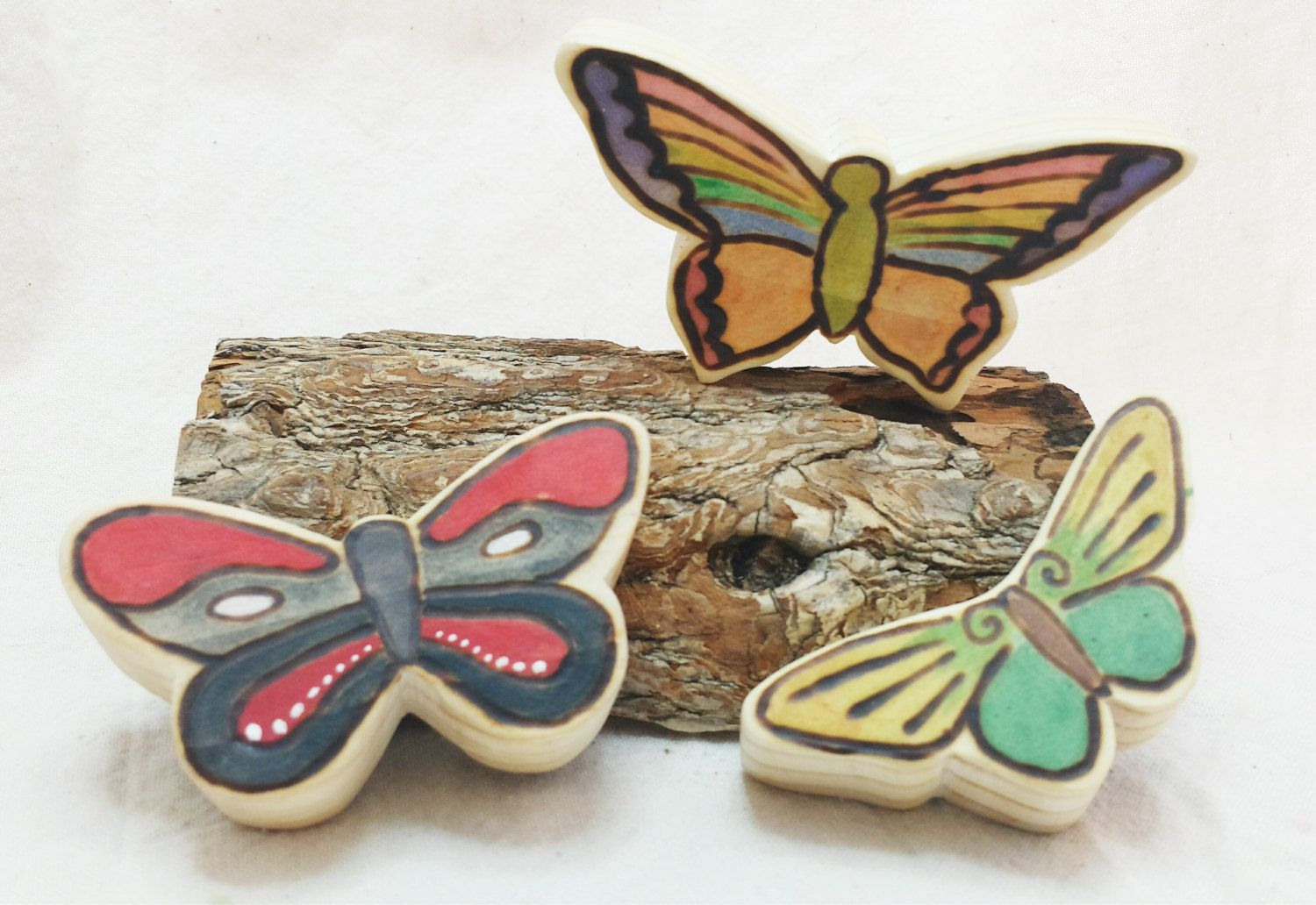 Wooden Stacking Butterfly Set // In Stock Ready by SimpleGiftsToys, $16.70