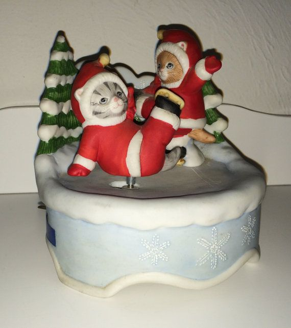 ZELDZAME Schmid 1987 Kitty Christmas Ice door MyVintageApartment