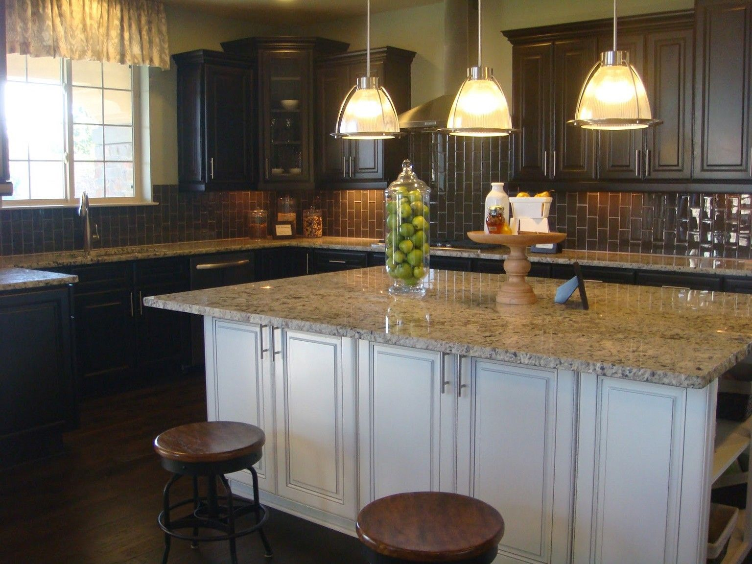 if we stain cabinets expresso/dark, we *can* have somewhat darker