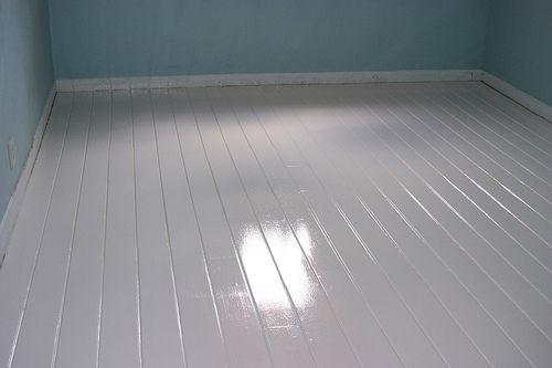 {DIY} Painted White Floors