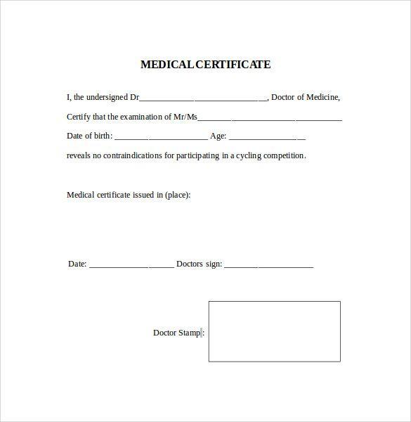 best medical certificate