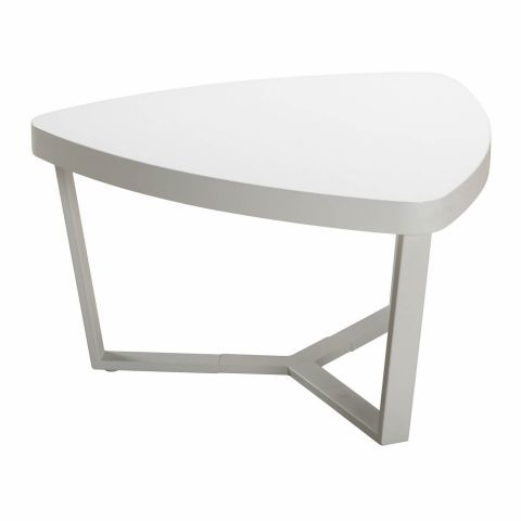 Clever Triangle Small White Coffee Table Casafina