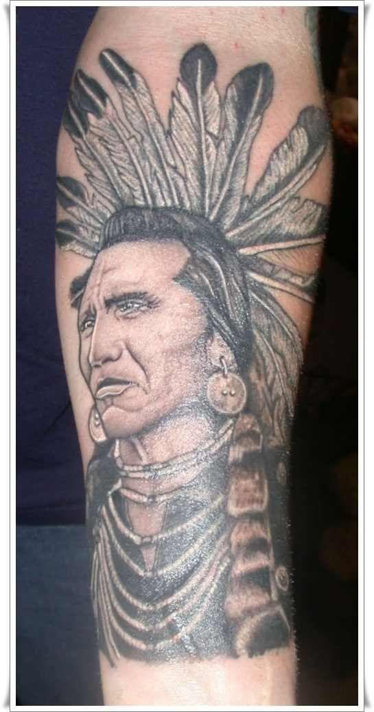 Native american symbol for warrior native american warrior for Native american warrior tattoos