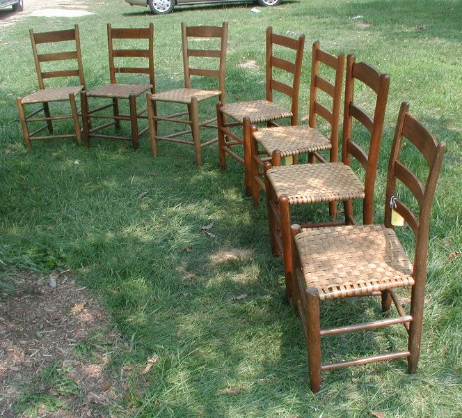 Ladder Back Cane Bottom Chairs