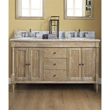 Fairmont Designs Rustic Chic 60 Vanity Double Bowl Weathered Oak Fairmont Designs Rustic Bathroom Vanities Modern Bathroom Vanity 60 inch double vanity