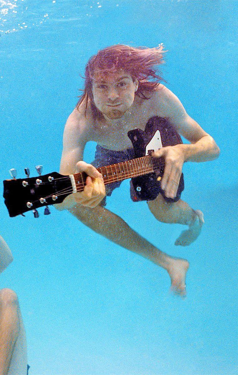 Kurt Cobain, Nevermind photo shoot.                                                                                                                                                                                 More