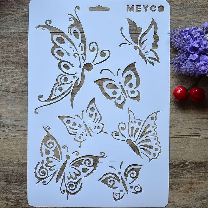 Cheap arte de diy mariposa capas plantillas para paredes - Plantillas para paredes ...