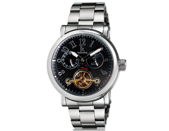 Armbandsur IK Colouring - Round (svart)  ik  skeleton  ikcolouring   armbandsur 04b4278dcdd6e