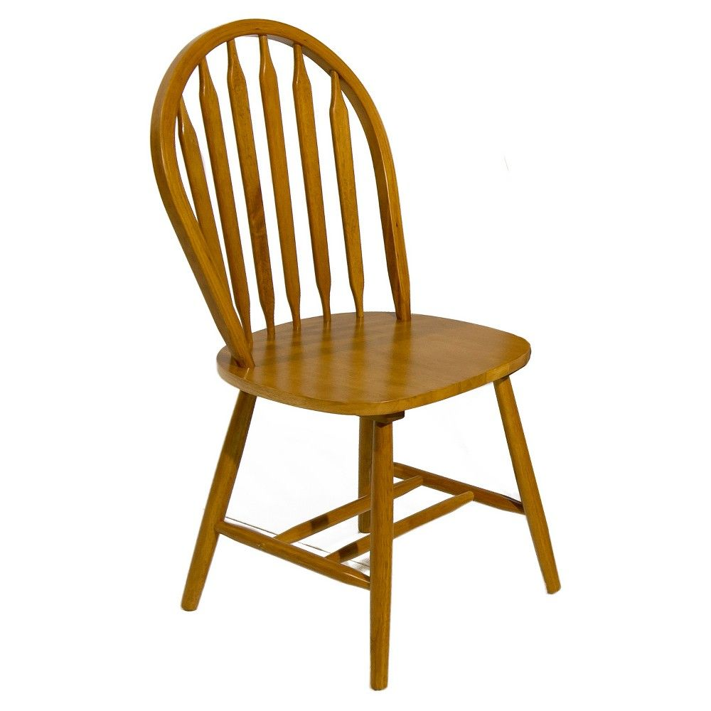 Arrow Back Chair Spice Oak Brown Home Source Solid Wood
