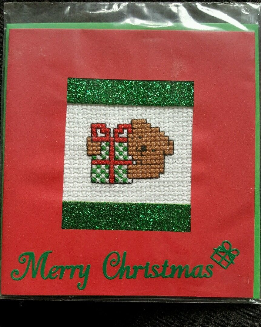 Free cross stitch christmas gift tags