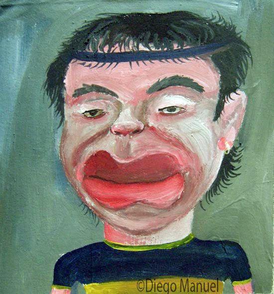 Diego Maradona 2, acrylic on canvas, 20 x 19 cm. 2005.