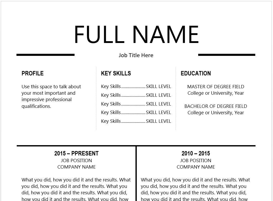The  Best Resume Templates YouLl Want To Download  Resume