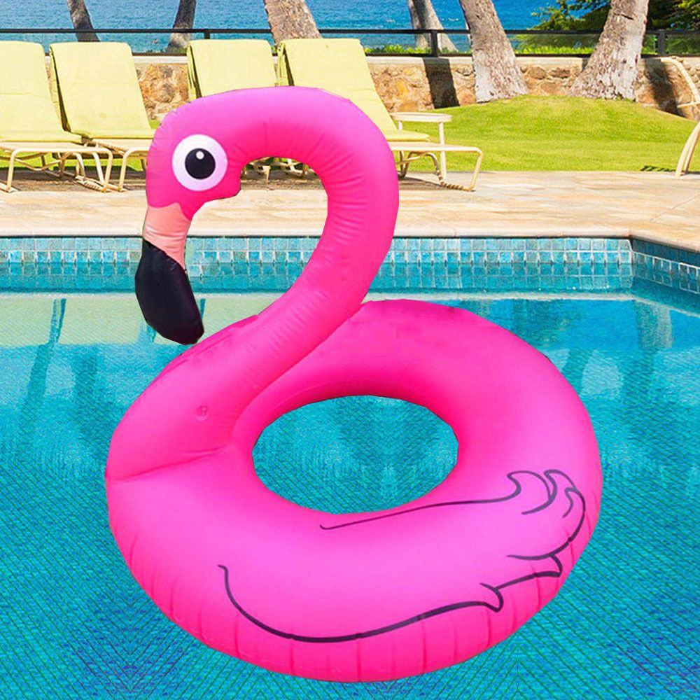 Inflatable Giant Pink Flamingo Shaped Pool Float Raft Ring